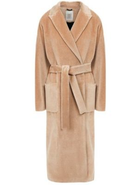 Пальто бежевое из альпаки Eleventy