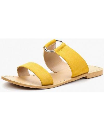 Сабо замшевые желтый Topshop