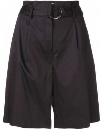 Однобортные черные шорты с карманами Barba
