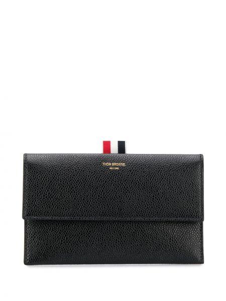 Кожаный черный кошелек Thom Browne