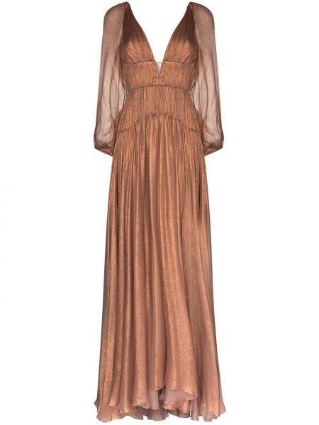 Платье с V-образным вырезом Maria Lucia Hohan