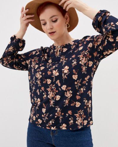 С рукавами синяя блузка Zolla