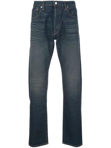 Niebieskie jeansy bawełniane z paskiem Simon Miller