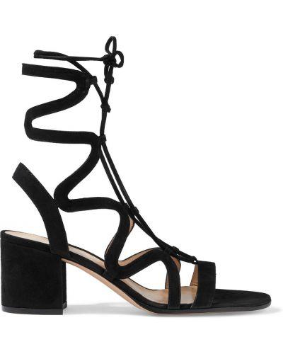 Кожаные сандалии - черные Gianvito Rossi