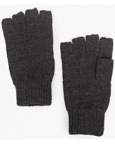 Текстильные серые перчатки Topman