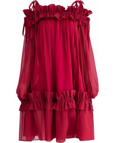 Платье мини шелковое с драпировкой Emanuel Ungaro