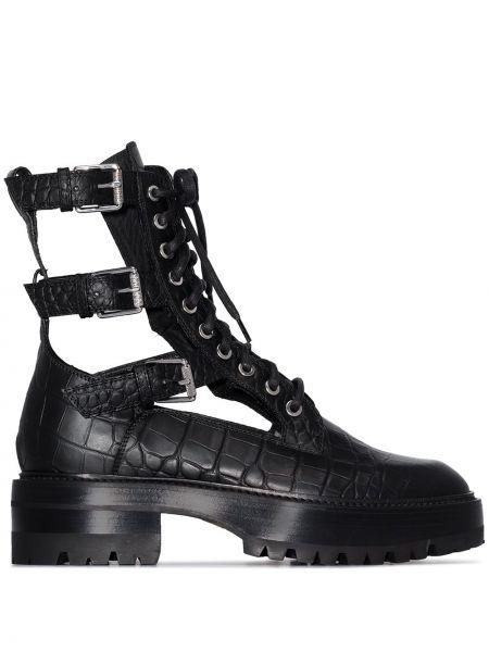 Кожаные ботинки - черные Amiri