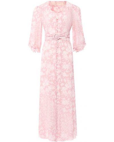 Платье макси розовое на пуговицах Ulyana Sergeenko