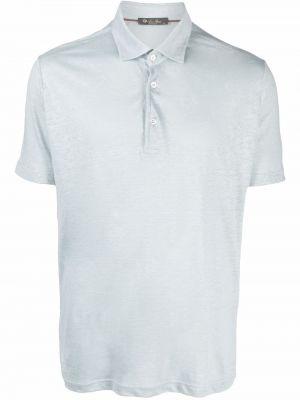 Niebieska koszula krótki rękaw Loro Piana