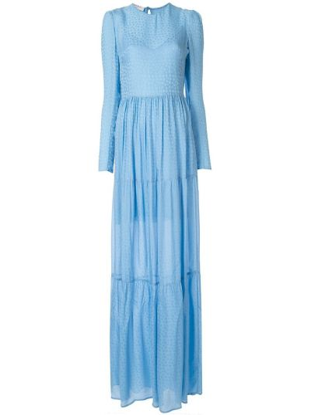 Платье макси шелковое платье-солнце Philosophy Di Lorenzo Serafini