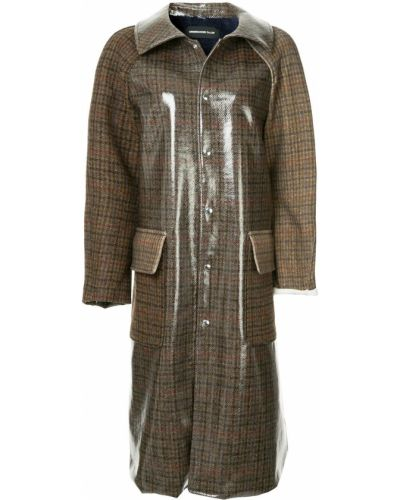 Пальто классическое с капюшоном с воротником на пуговицах Undercover