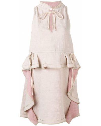 Платье с оборками без рукавов See By Chloé