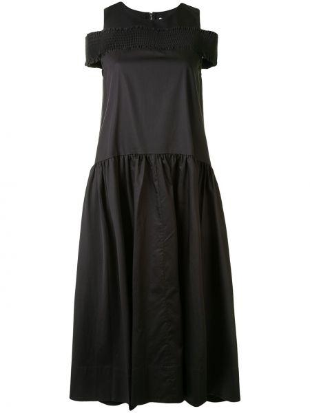 Черное платье без рукавов с круглым вырезом круглое Tibi