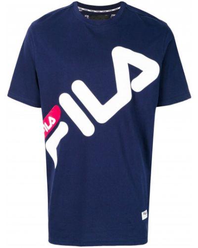 Синяя футболка с логотипом Fila