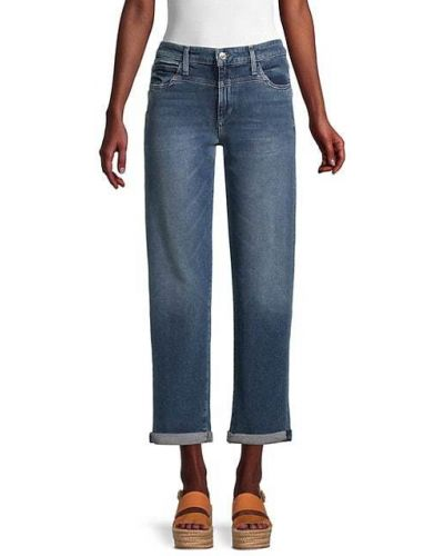 Хлопковые прямые джинсы с карманами Joe's Jeans