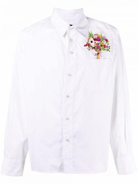 Biała koszula z długimi rękawami z haftem 3.paradis