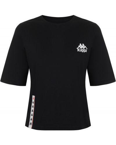 Спортивная футболка черная свободная Kappa