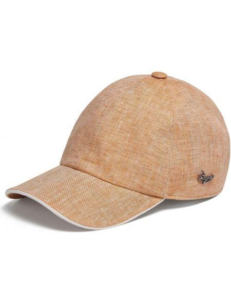Pomarańczowy kapelusz bawełniany Ermenegildo Zegna