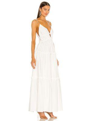 Льняное белое платье с подкладкой Karina Grimaldi