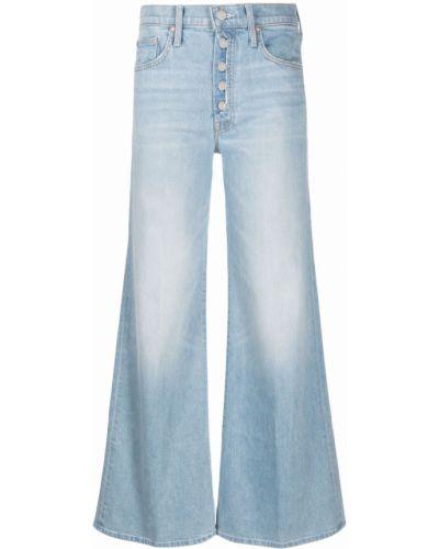 Синие джинсовые широкие джинсы Mother