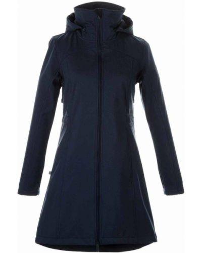 Пальто с капюшоном - синее Huppa