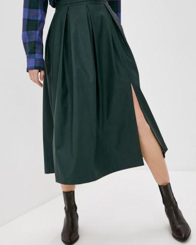 Зеленая кожаная юбка Sugarlife