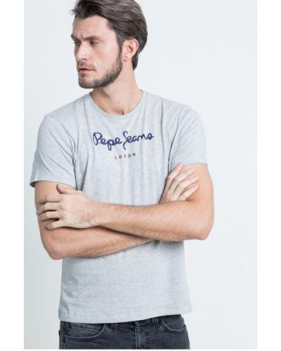 Серая футболка Pepe Jeans