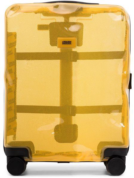Чемодан прозрачный - желтый Crash Baggage