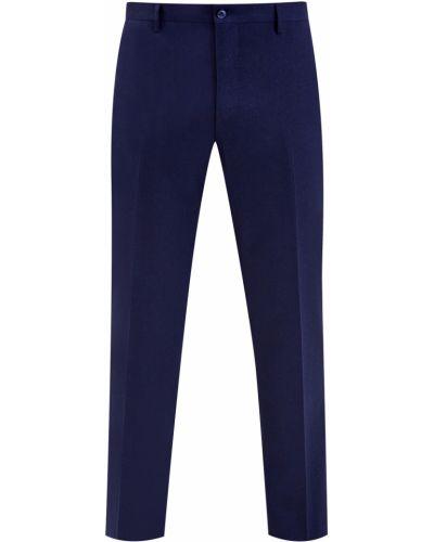 Облегающие кожаные синие брюки Bertolo Cashmere