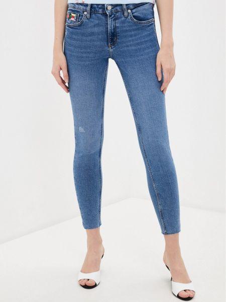 Синие джинсы-скинни с пайетками Q/s Designed By