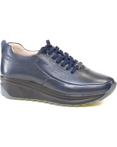 Кожаные кроссовки - синие Nod Trend