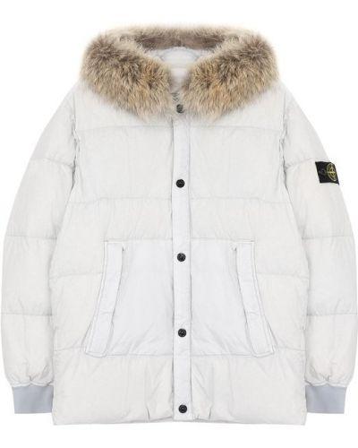 Утепленная куртка с капюшоном с нашивками Stone Island