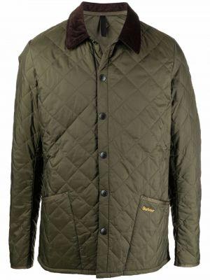 Зеленая куртка из полиэстера Barbour