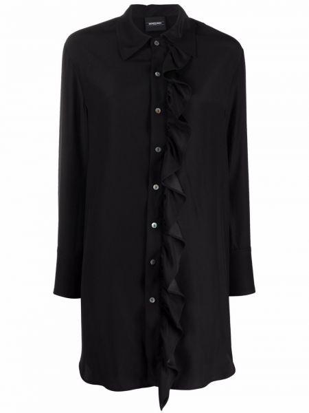 Черное платье рубашка Simonetta Ravizza