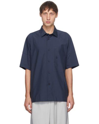 Хлопковая с рукавами рубашка с короткими рукавами с воротником с карманами 132 5. Issey Miyake