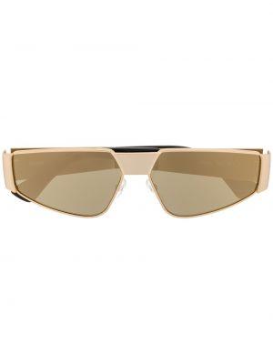 Желтые солнцезащитные очки металлические Moschino Eyewear