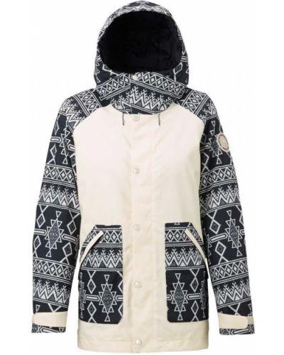 Бежевая утепленная куртка сноубордическая Burton