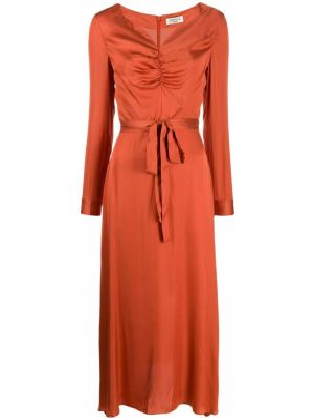 Платье миди средней длины - оранжевое Jovonna