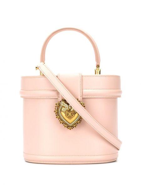 Skórzana torebka na ramię z uchwytem Dolce And Gabbana