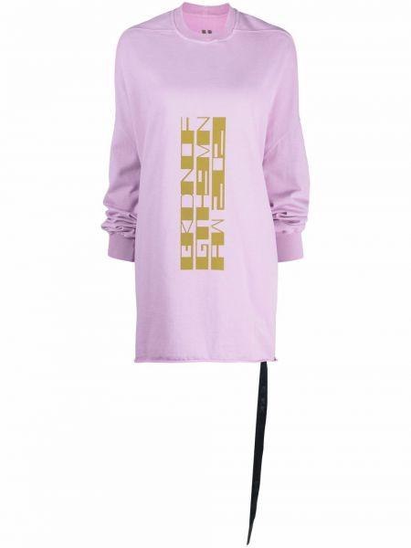 Платье макси длинное - розовое Rick Owens Drkshdw