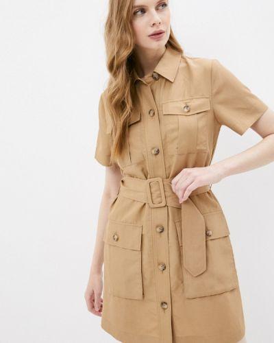 Бежевое платье-рубашка Liu Jo