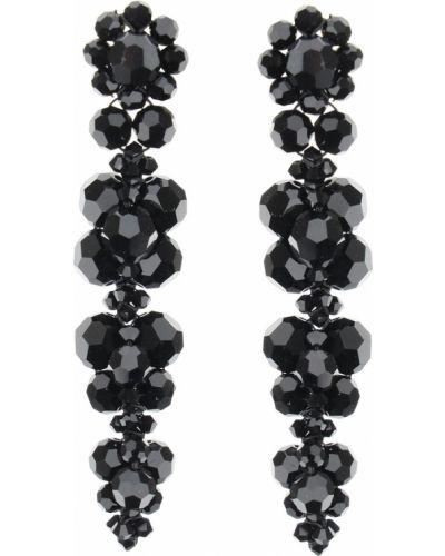 Czarne kolczyki sztyfty Simone Rocha