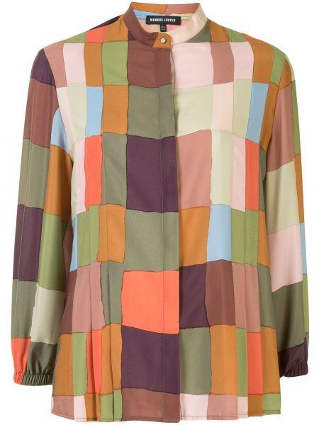 Облегченная с рукавами плиссированная блузка с воротником Markus Lupfer