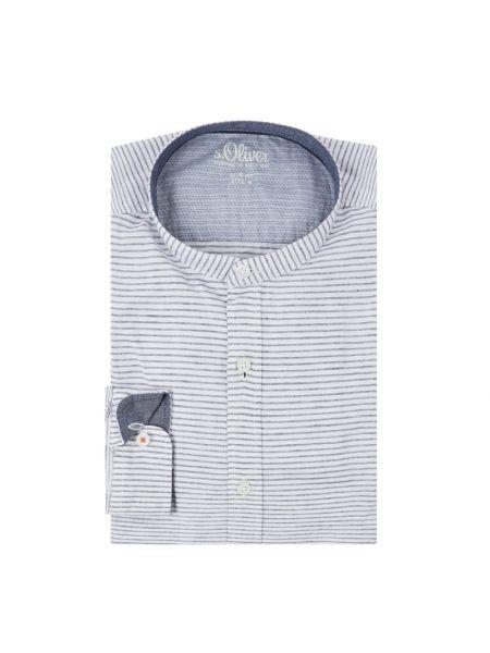 Koszula z długim rękawem w paski z paskami S.oliver Red Label