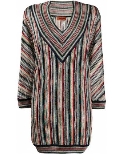 Платье макси в полоску с V-образным вырезом Missoni