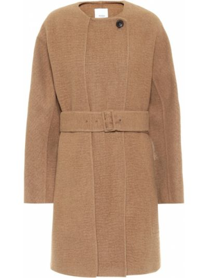 Коричневое шерстяное пальто Agnona