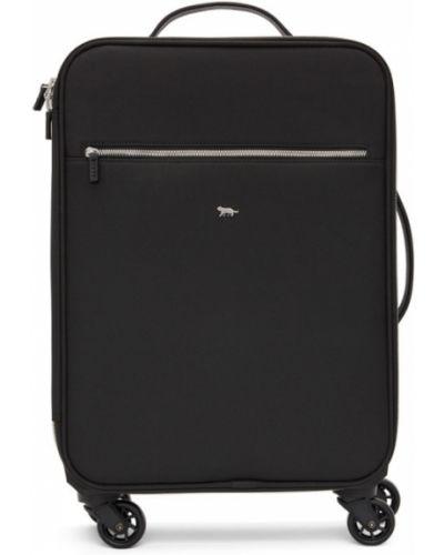 Czarna walizka z siateczką bawełniana Tiger Of Sweden