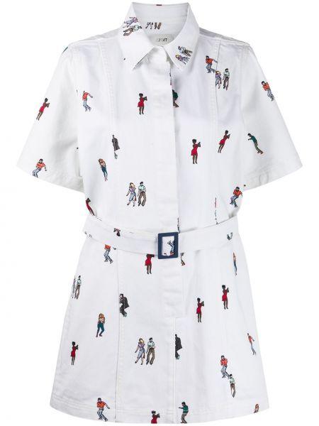 Платье мини платье-рубашка с рукавами Kirin