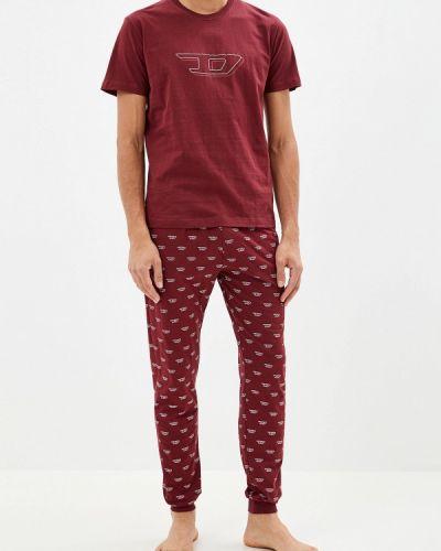 Пижама красный бордовый Diesel
