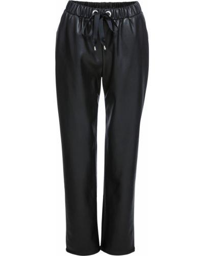 Спортивные брюки на резинке из искусственной кожи Bonprix